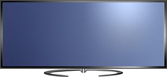 Vector illustration of high definition TV screen Stock Photography