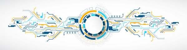 Vector Illustration, High-Teche Digitaltechnik und Technik lizenzfreie abbildung