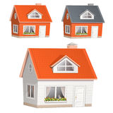 House icons. Vector illustration of highly detailed house icons vector illustration