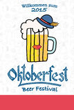 Vector illustration of hipster Oktoberfest logotype Royalty Free Stock Image