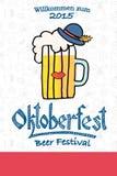Vector illustration of hipster Oktoberfest logotype Royalty Free Stock Image
