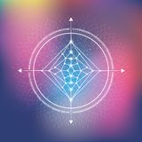 Sacred geometry for balance and peace royalty free illustration