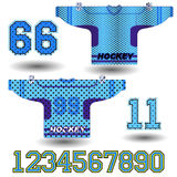 Vector illustration of hockey Jersey Stock Images