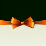 Holiday Background  with orange bow Royalty Free Stock Photos