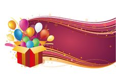 Vector illustration of holiday celebration Royalty Free Stock Photography