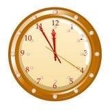 Vector illustration of holiday clock Stock Photos