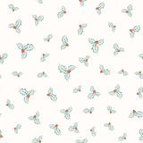 Vector illustration of holly plant pattern Stock Image