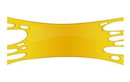 Vector illustration of honey splash. Royalty Free Stock Image