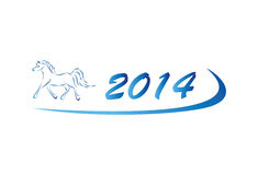 Vector illustration of horse icon 2014 Stock Images