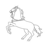 Vector illustration of horse silhouette Royalty Free Stock Image