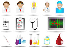 Vector illustration hospital icons Stock Image