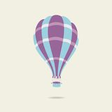 Vector illustration of hot air balloon on the sky Royalty Free Stock Images
