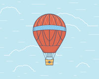 Vector illustration of a hot air baloon. Traveling Royalty Free Stock Images