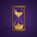 Vector illustration hourglass. Shiny hourglass. Time. Icon Game Illustration Vector Royalty Free Stock Photography