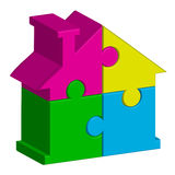 House from puzzles. Vector illustration of house from puzzles Stock Photo