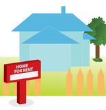 Vector illustration of House for rent Stock Images