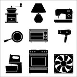 Set of gear wheel icon. illustration vector Royalty Free Stock Images