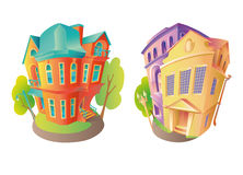 Vector illustration houses 2 Stock Photo