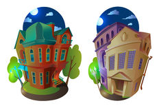 Vector illustration houses 8 Stock Photography
