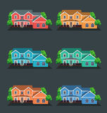 Vector illustration of houses Stock Images