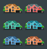 Vector illustration of houses Royalty Free Stock Image