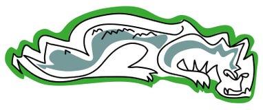 Crocodile isolated royalty free illustration