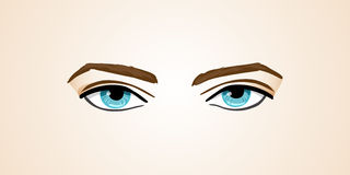 Vector illustration human eyes on Isolated background Stock Photography