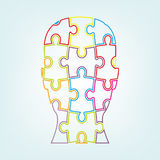 Head puzzle light Stock Image