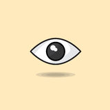 Vector illustration of human open eyes, sight, looking eye, vision on light background Royalty Free Stock Photography