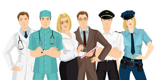 Vector illustration of human resources. Royalty Free Stock Photography