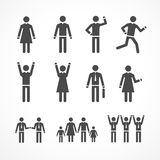 Vector Illustration human silhouettes Royalty Free Stock Photography