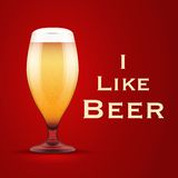 Vector Illustration I like beer Royalty Free Stock Photography