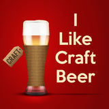 Vector Illustration I like Craft beer Royalty Free Stock Photos
