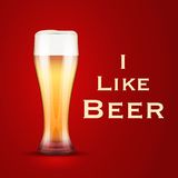 Vector Illustration I love beer Stock Images