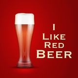 Vector Illustration I love beer Royalty Free Stock Image