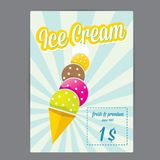Vector illustration of ice cream cafe menu Royalty Free Stock Photo