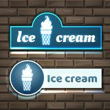 Ice cream signboard Royalty Free Stock Photo