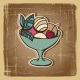 Vector illustration of Ice Cream in retro style Stock Photo
