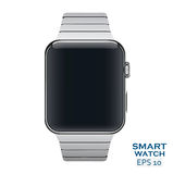 Vector Illustration Icon of aluminium metal steel smart watch Stock Images