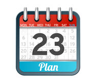 Vector illustration of icon day planner Royalty Free Stock Photos