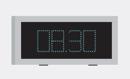 Vector illustration. Icon of digital alarm clock Stock Photos