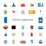 Vector illustration of icon set of kitchen equipment Stock Photo