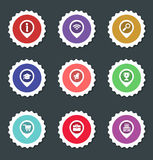 Vector illustration of icon stickers Stock Images