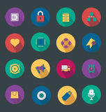 Vector illustration of icons, round icons Royalty Free Stock Photography