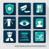 Icons security and protection Royalty Free Stock Photography