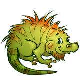 Vector illustration of iguana in cartoon style Royalty Free Stock Images