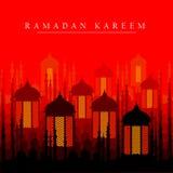 Illuminated lamp for Ramadan Kareem Greetings for Ramadan background Stock Photos
