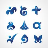 Logo Template Any Industry with Blue Theme vector illustration
