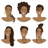 Vector illustration with the image of the hairstyles Royalty Free Stock Image