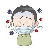 Prevention of flu and cold - Boy vector illustration